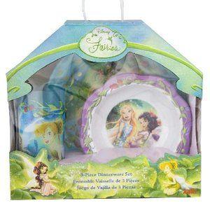 Disney Fairies & Tinkerbell Kids Dinnerware Set